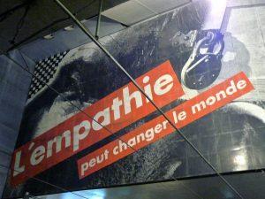 L empathie peut changer le monde oeuvre de barbara kruger expose e dans une station de tramway de strasbourg1 300x225