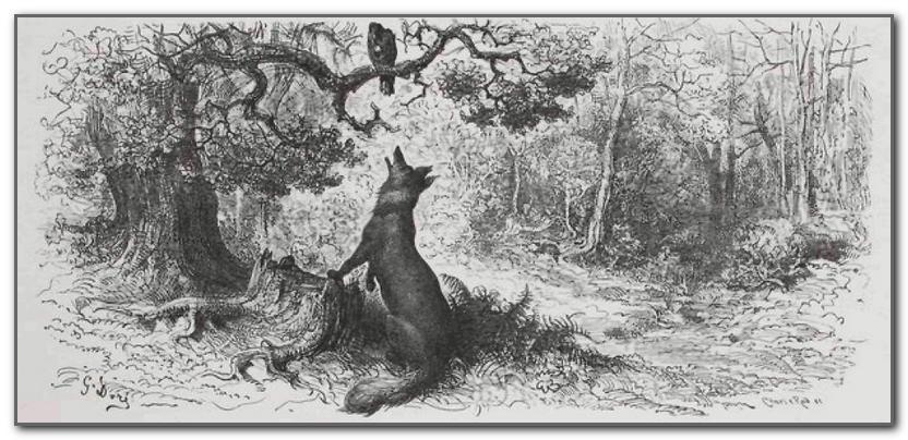 Le corbeau et le renard gustave dore
