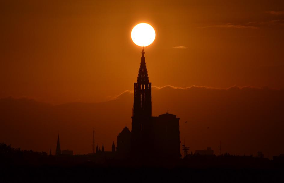 Lever de soleil cathedrale