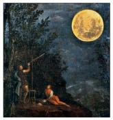 Observations astronomiques la lune de donato creti 1711 pinacotheque du vatican